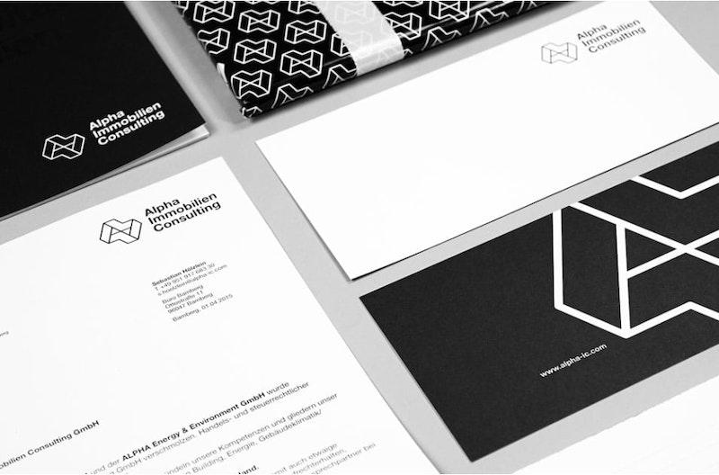 Corporate Design Alpha Immobilien Consulting Bamberg · design by zellenkur bamberg