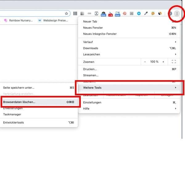 Schritt 1: Den Cache Google Chrome Browser löschen