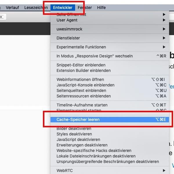 Apple Safari den Browser Cache löschen - so gehts