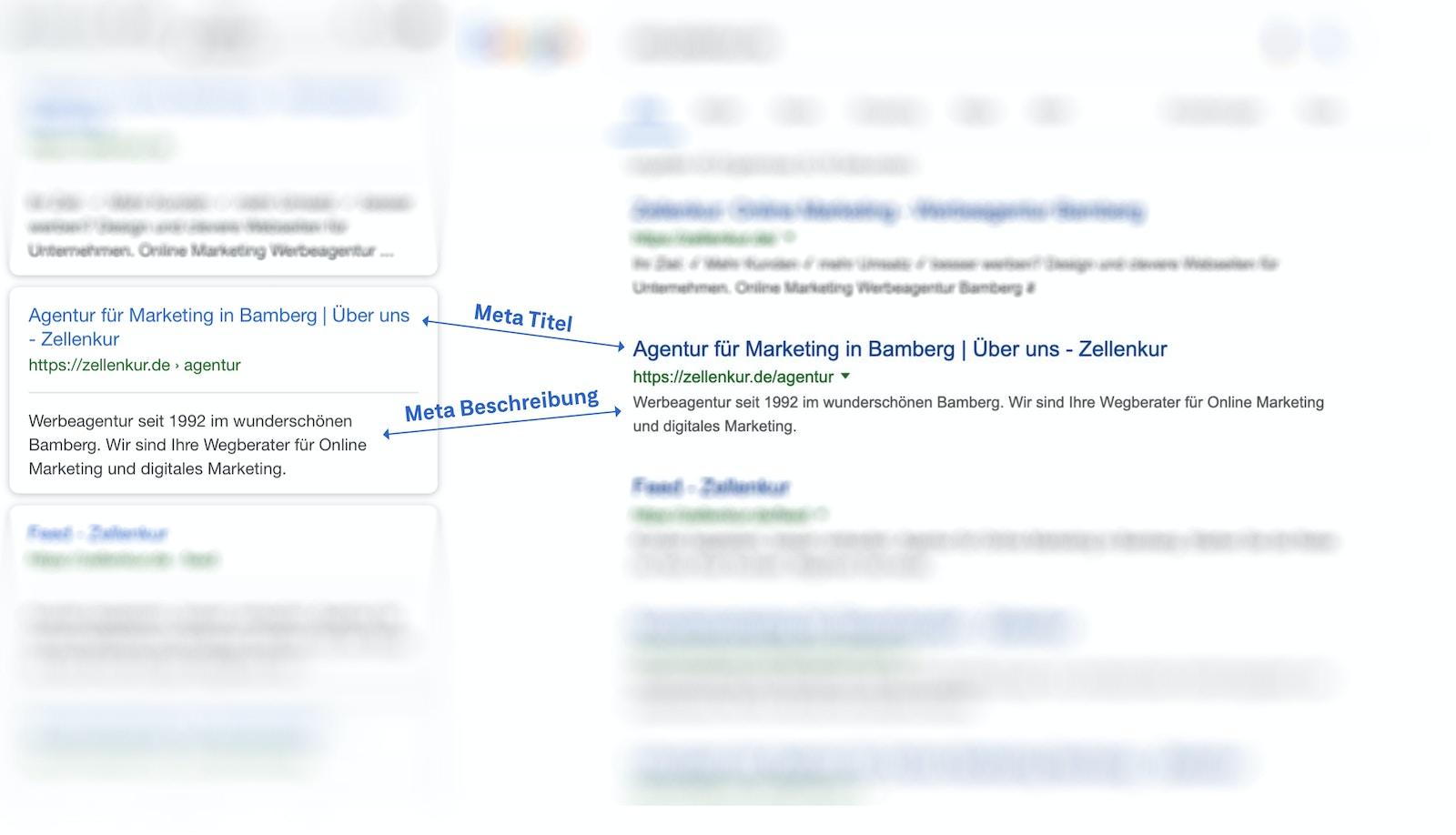 Wichtige Punkte, damit die Firmen-Webseite gefunden wird: Meta Titel und Beschreibung.