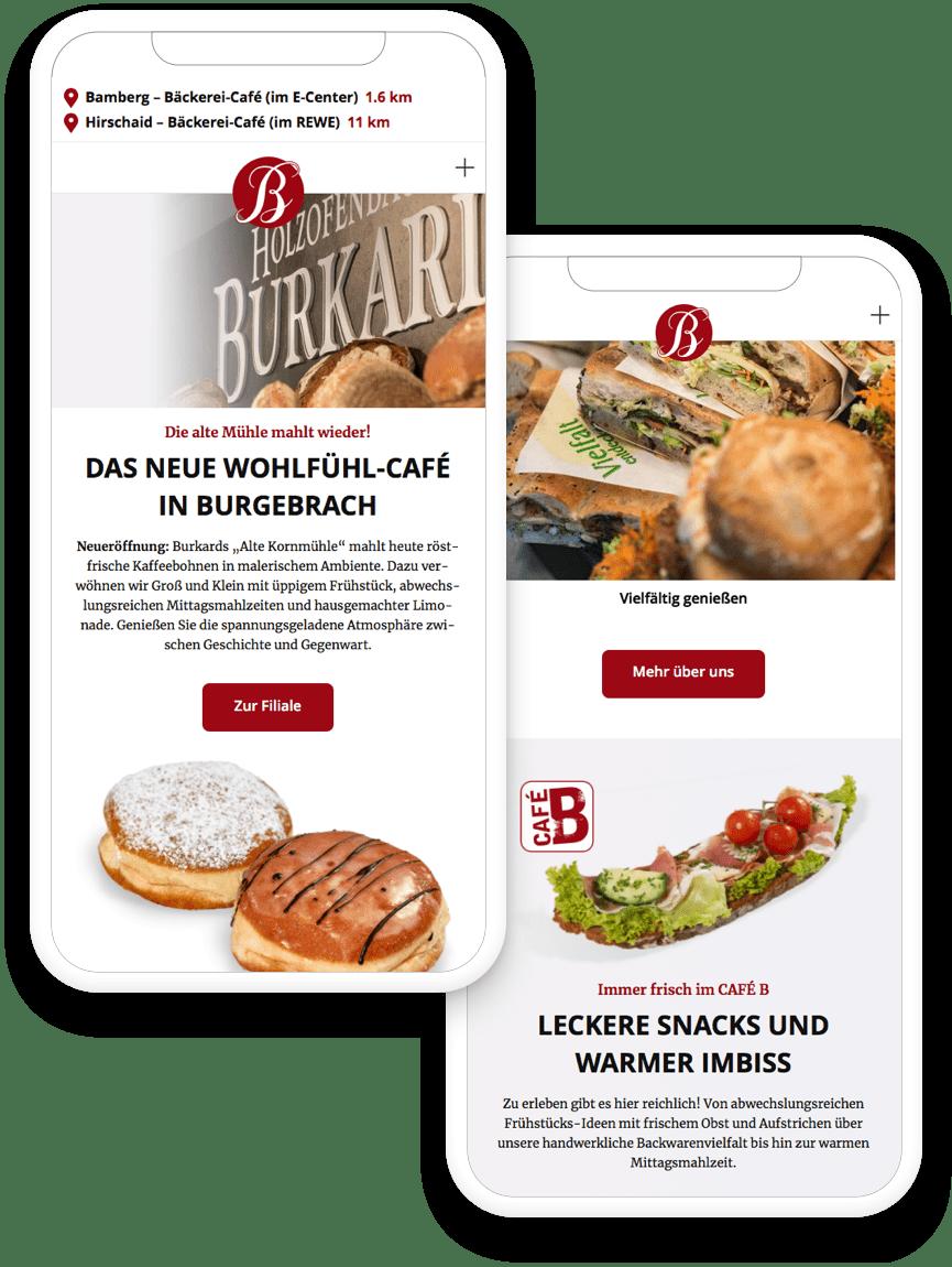 Webseiten, die Kunden in die Filiale bringen. Angebote in der lokalen Umgebung finden.