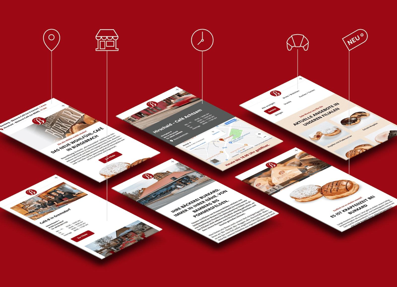 Eigens entwickelte CMS-Module für den Einzelhandel. Lokalisierung, Filialverwaltung, Öffnungszeiten-Modul, Produkt-Modul, Onlinemarketing-Aktionen