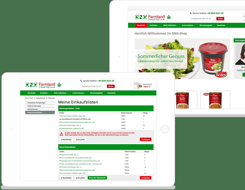 Bestellen ohne Zeitaufwand. Einkaufslisten und Abo-Funktionen erleichtern den Großverbraucher Alltag. So schön kann E-Commerce für Großverbraucher sein.