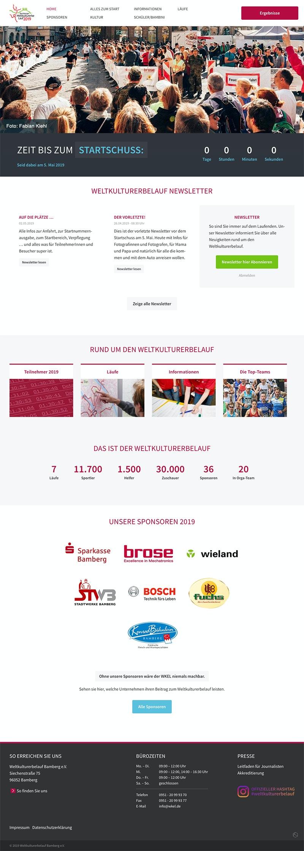 Response Webseite, Marken- und Designkonzept Sportveranstaltung