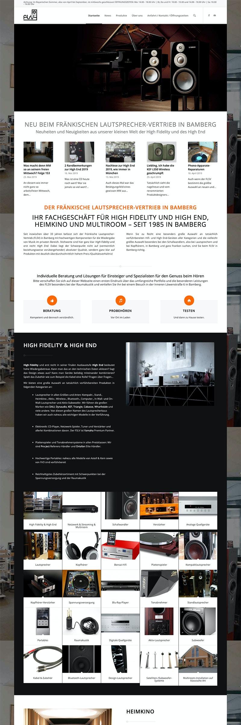 Webdesign Wordpress Webseite für stationären Handel