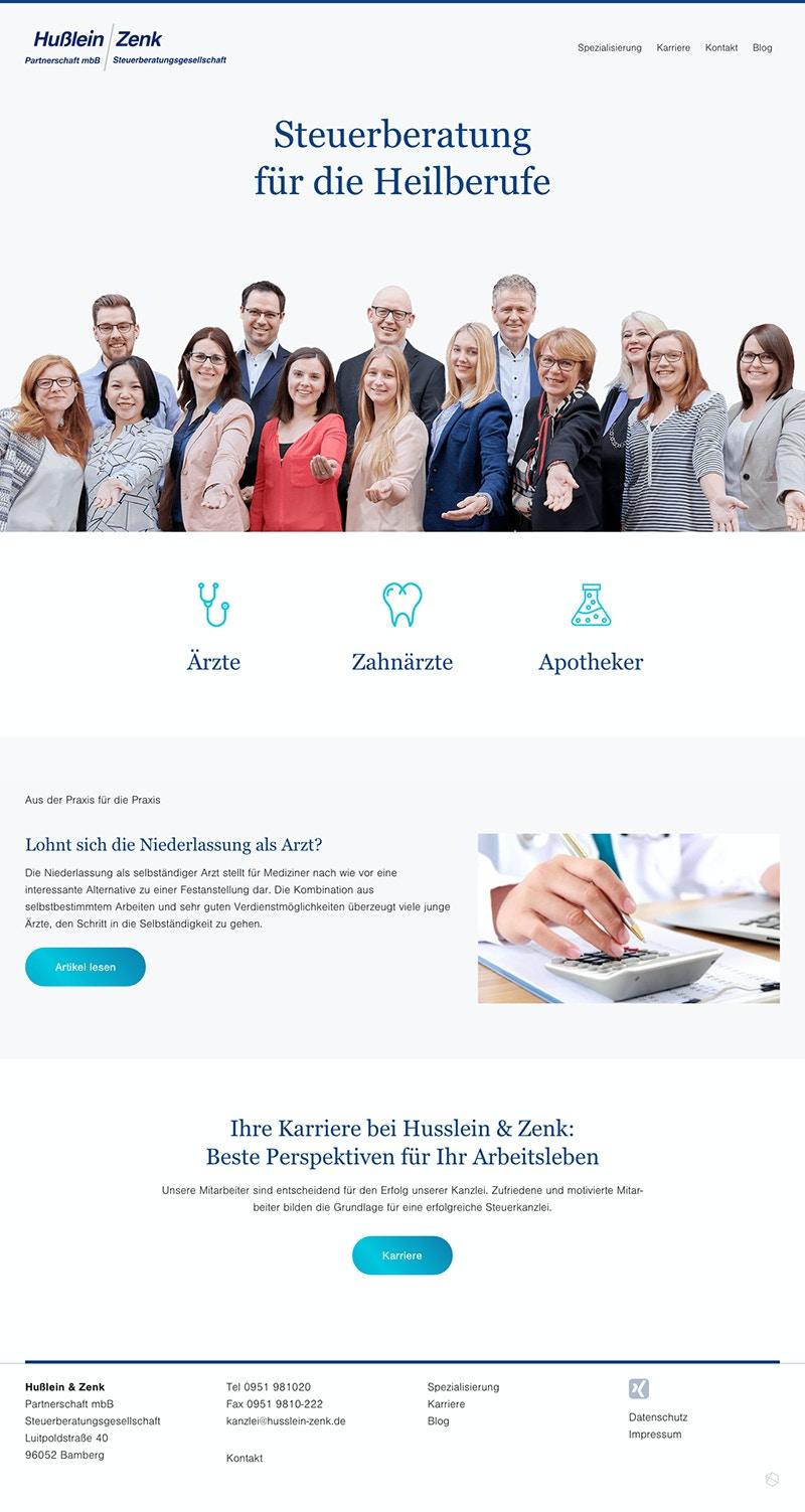 Webseite für Steuerberater, Anwälte und Kanzleien, Personal Marketing