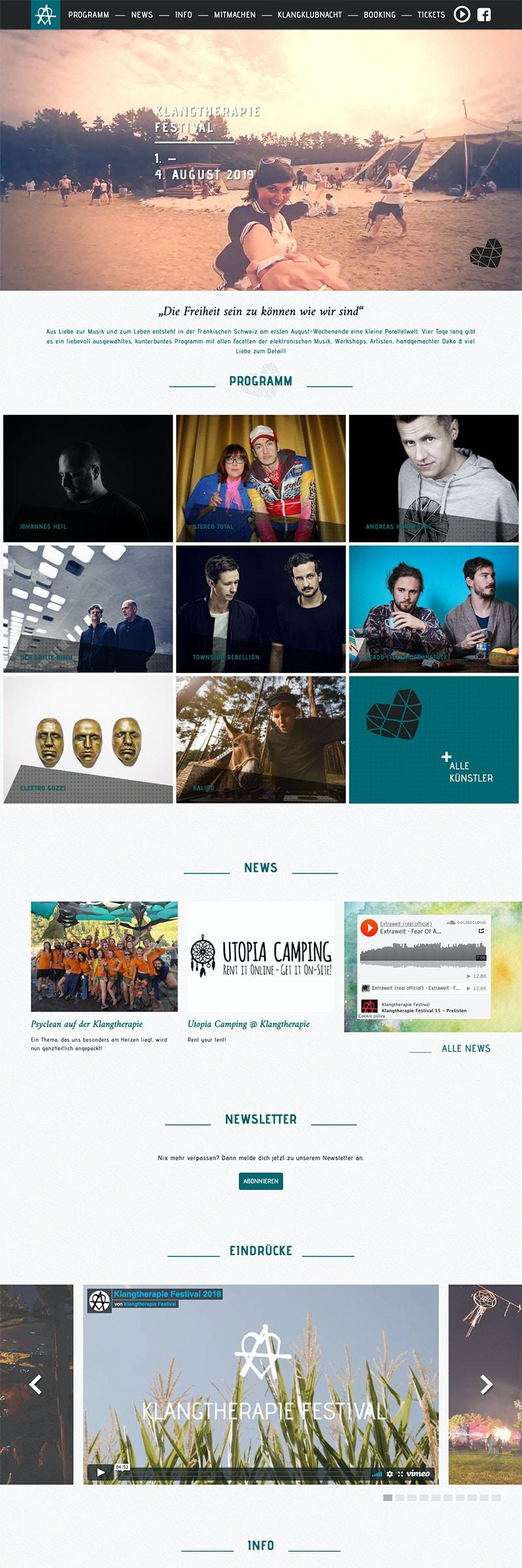 Webseite für größtes Festival in der Fränkischen Schweiz