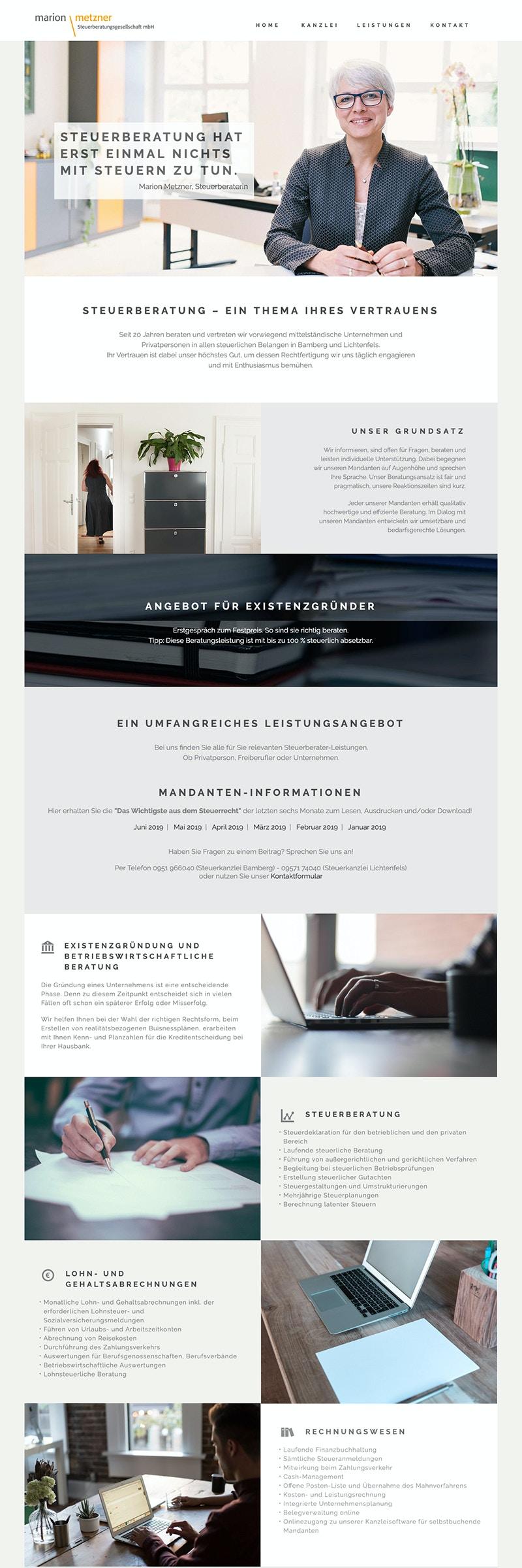 Design-Konzept und Umsetzung der Webseite einer Steuerkanzlei